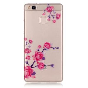 Průhledný gelový obal na mobil Huawei P9 Lite - kvetoucí růže - 1