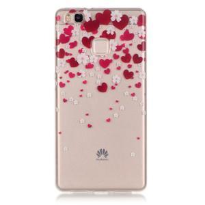 Průhledný gelový obal na mobil Huawei P9 Lite - srdíčka - 1