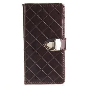 Luxury PU kožené peňaženkové puzdro na Huawei P9 Lite - coffee - 1