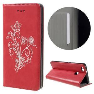 Klopové pouzdro na mobil Huawei P9 Lite - červené - 1