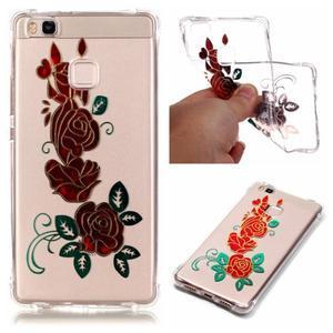 Lacqe geový obal na Huawei P9 Lite - růže - 1