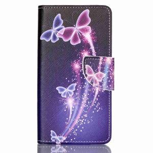 Patter PU kožené pouzdro na mobil Huawei P9 Lite - kouzlení motýlci - 1
