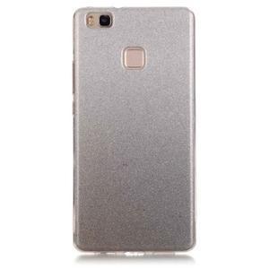 Gradient třpitivý gelový obal na Huawei P9 Lite - šedý - 1