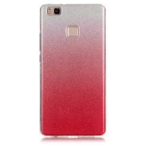 Gradient třpitivý gelový obal na Huawei P9 Lite - rose - 1