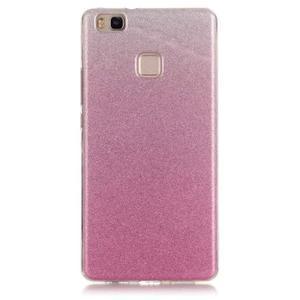 Gradient třpitivý gelový obal na Huawei P9 Lite - růžový - 1