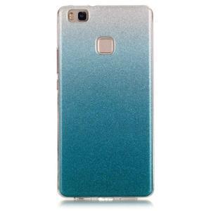 Gradient třpitivý gelový obal na Huawei P9 Lite - světlemodrý - 1