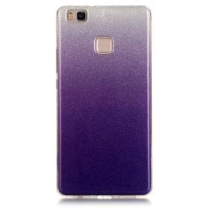 Gradient třpitivý gelový obal na Huawei P9 Lite - fialový - 1