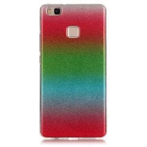 Gradient třpitivý gelový obal na Huawei P9 Lite - mix barev I - 1