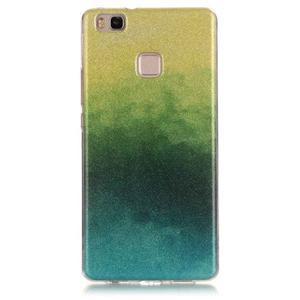 Gradient třpitivý gelový obal na Huawei P9 Lite - mix barev II - 1