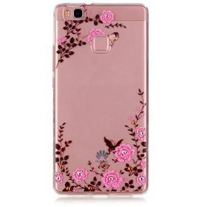 Transparentní obal na telefon Huawei P9 Lite - květinky - 1