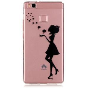 Transparentní obal na telefon Huawei P9 Lite - květinová dívka - 1