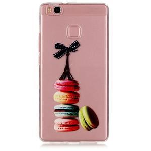 Transparentní obal na telefon Huawei P9 Lite - Eiffelka a makrónky - 1