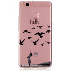 Transparentní obal na telefon Huawei P9 Lite - svoboda - 1