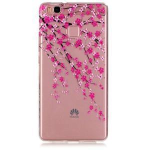 Transparentní obal na telefon Huawei P9 Lite - kvetoucí třešeň - 1