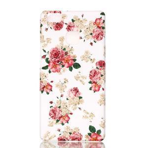 Shelly gelový obal na mobil Huawei P9 Lite - květiny - 1
