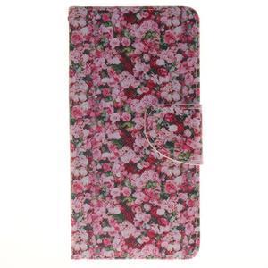 Lethy knižkové puzdro na telefon Huawei P9 Lite - koláž ruží - 1