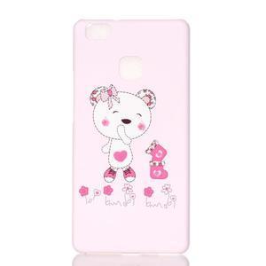 Shelly gelový obal na mobil Huawei P9 Lite - medvídek - 1