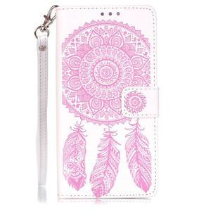 Dreaming PU kožené pouzdro na Huawei P9 Lite - růžové/bílé - 1