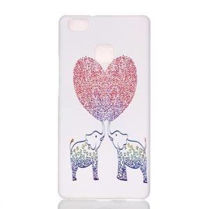 Shelly gelový obal na mobil Huawei P9 Lite - zamilovaní sloni - 1