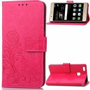 Cloverleaf penženkové pouzdro na Huawei P9 Lite - rose - 1