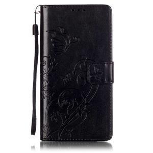 Magicfly knížkové pouzdro na telefon Huawei P9 Lite - černé - 1
