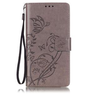 Magicfly knížkové pouzdro na telefon Huawei P9 Lite - šedé - 1