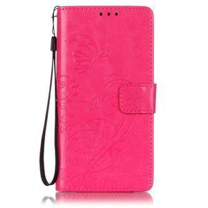 Magicfly knižkové puzdro na telefon Huawei P9 Lite - rose - 1