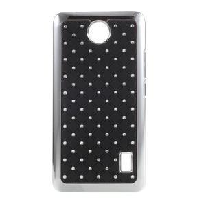 Drahokamový kryt na Huawei Y635 - čierny - 1