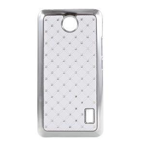 Drahokamový kryt na Huawei Y635 - biely - 1