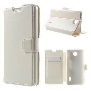 Bílé kožené puzdro na Huawei Y635 - 1