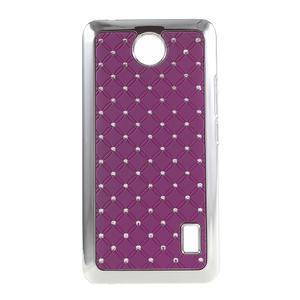 Drahokamový kryt na Huawei Y635 - fialový - 1
