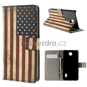 Peňaženkové puzdro Huawei Y635 - US vlajka - 1