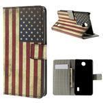 Peňaženkové puzdro Huawei Y635 - US vlajka - 1/7