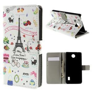 Peňaženkové puzdro Huawei Y635 - Eiffelova veža - 1