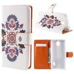 Zapínací peňaženkové puzdro na Huawei Y635 - folk - 1/7