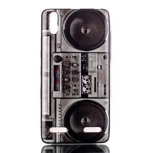 Jelly gélový obal pre mobil Lenovo A6000 - retro kazeťák - 1