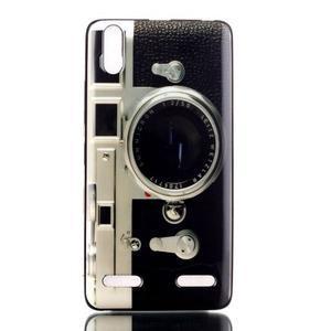 Jelly gélový obal pre mobil Lenovo A6000 - retro foťák - 1