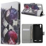 Emotive peňaženkové puzdro pre mobil Lenovo A6000 - cool mačka - 1/7