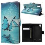 Emotive peněženkové pouzdro na mobil Lenovo A6000 - modrý motýl - 1/7