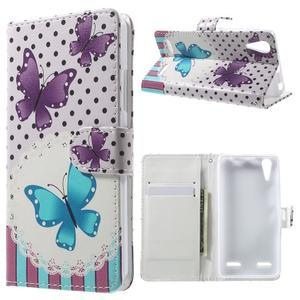 Emotive peňaženkové puzdro pre mobil Lenovo A6000 - motýľe - 1