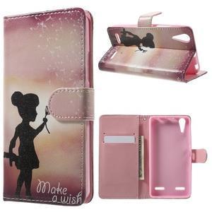 Emotive peňaženkové puzdro pre mobil Lenovo A6000 - dievčatko - 1