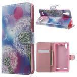 Emotive peňaženkové puzdro pre mobil Lenovo A6000 - púpavy - 1/7