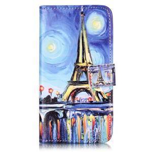 Knížkové puzdro pre mobil Lenovo Vibe K5 / K5 Plus - Eiffelova veža - 1