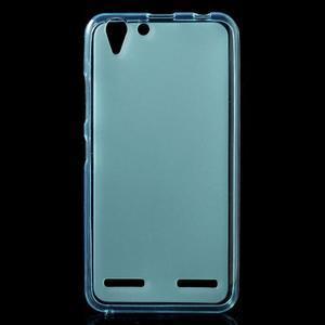 Matný gelový obal na mobil Lenovo Vibe K5 / K5 Plus - modrý - 1