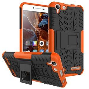 Outdoor odolný obal na mobil Lenovo Vibe K5 / K5 Plus - oranžový - 1