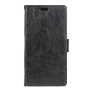 Knížkové PU kožené puzdro pre Lenovo Vibe K5 / K5 Plus - čierne - 1