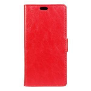 Knížkové PU kožené puzdro pre Lenovo Vibe K5 / K5 Plus - červené - 1