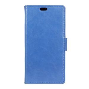 Knížkové PU kožené puzdro pre Lenovo Vibe K5 / K5 Plus - modré - 1