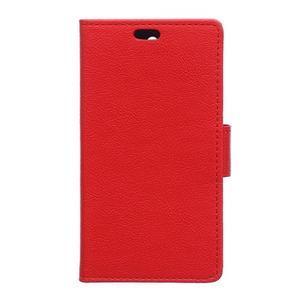 Peněženkové pouzdro na Lenovo Vibe K5 / K5 Plus - červené - 1