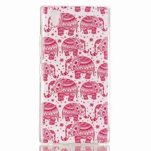 Softy gélový obal pre mobil Lenovo P70 - ružoví slony - 1